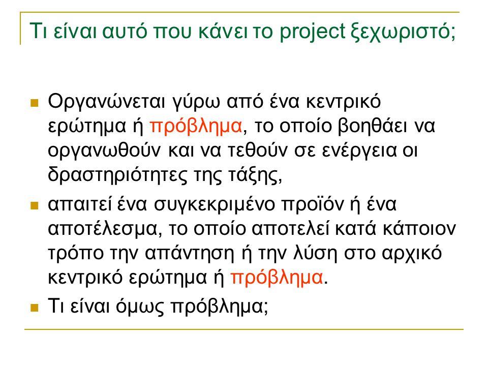 Τι είναι αυτό που κάνει το project ξεχωριστό;