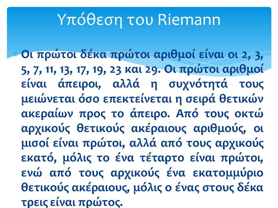 Υπόθεση του Riemann