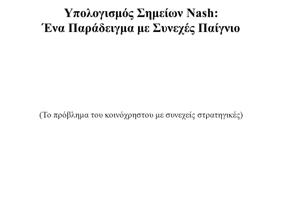 Υπολογισμός Σημείων Nash: Ένα Παράδειγμα με Συνεχές Παίγνιο
