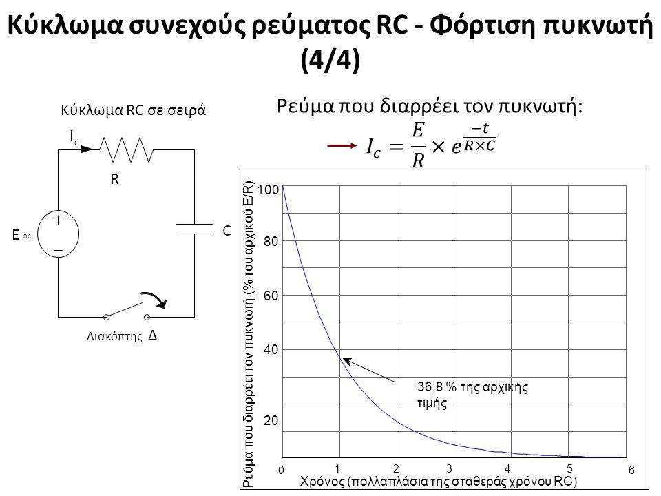 Κύκλωμα συνεχούς ρεύματος RC - Εκφόρτιση πυκνωτή (1/4)