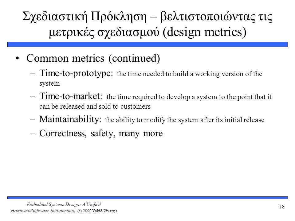 Σχεδιαστική Πρόκληση – βελτιστοποιώντας τις μετρικές σχεδιασμού (design metrics)