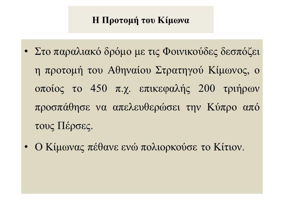 Ο Κίμωνας πέθανε ενώ πολιορκούσε το Κίτιον.