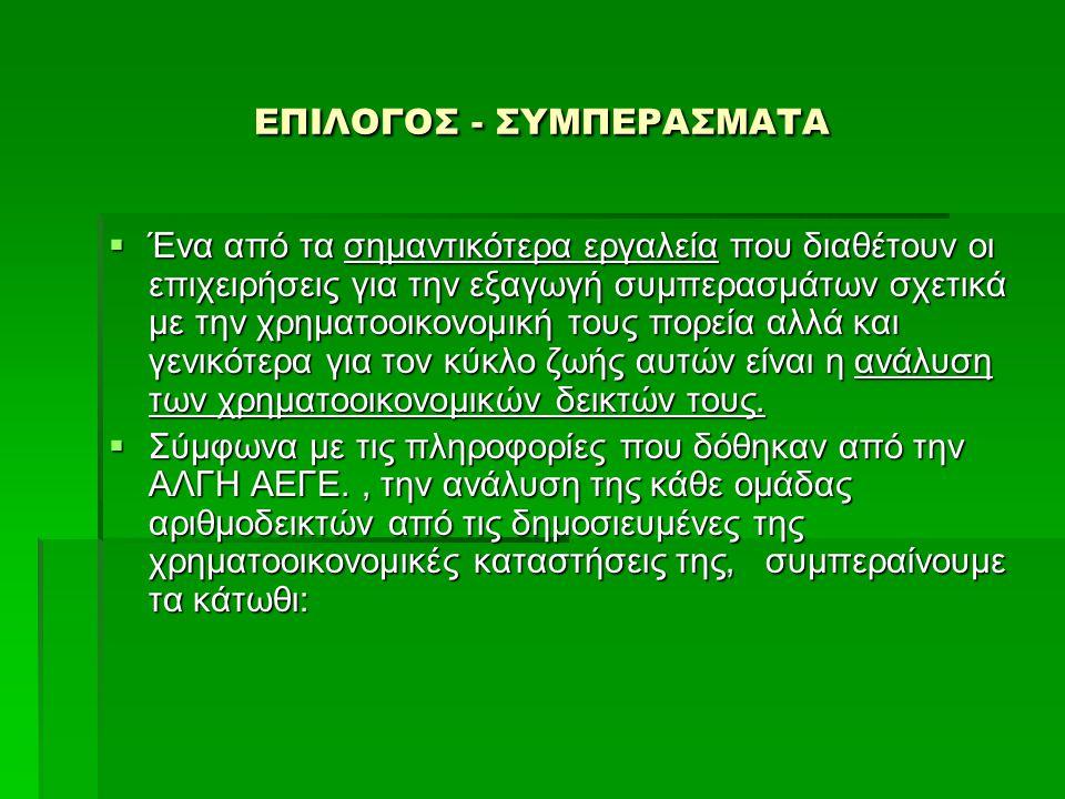 ΕΠΙΛΟΓΟΣ - ΣΥΜΠΕΡΑΣΜΑΤΑ