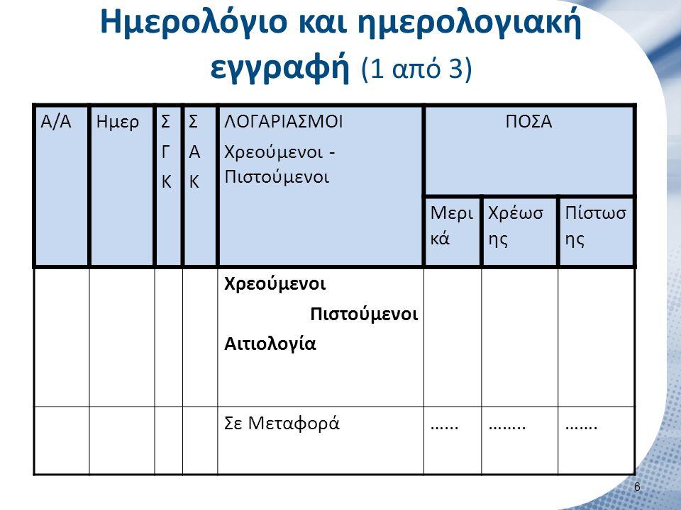 Ημερολόγιο και ημερολογιακή εγγραφή (2 από 3)