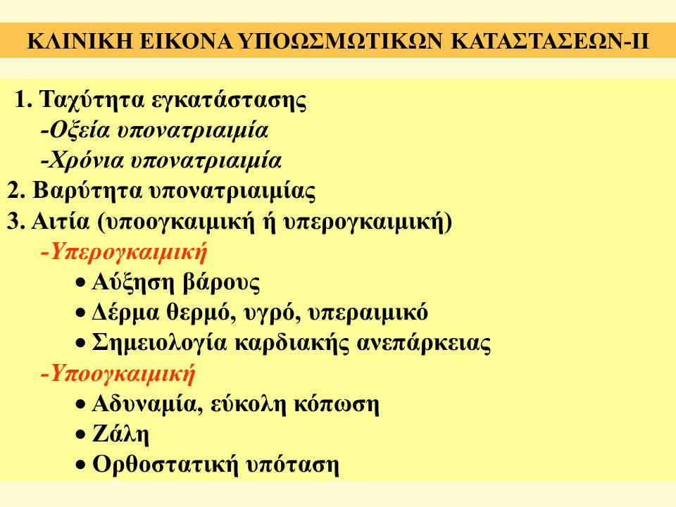 ΚΛΙΝΙΚΗ ΕΙΚΟΝΑ ΥΠΟΩΣΜΩΤΙΚΩΝ ΚΑΤΑΣΤΑΣΕΩΝ-II