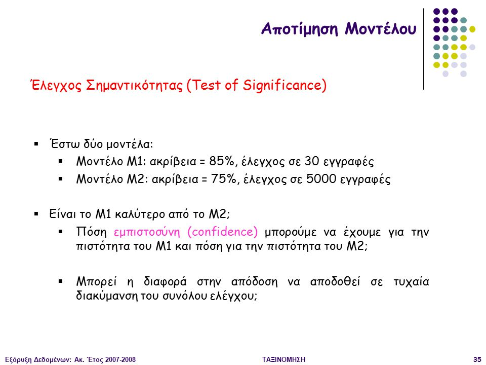 Έλεγχος Σημαντικότητας (Test of Significance)