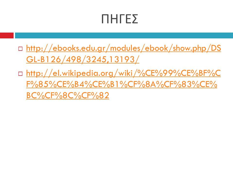 ΠΗΓΕΣ http://ebooks.edu.gr/modules/ebook/show.php/DS GL-B126/498/3245,13193/