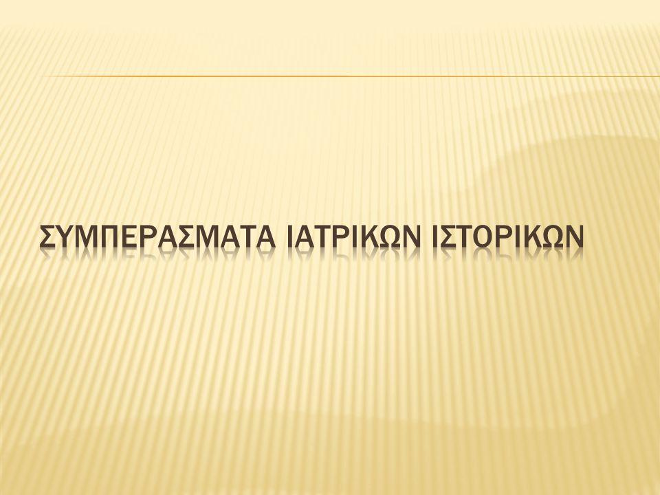 ΣΥΜΠΕΡΑΣΜΑΤΑ ΙΑΤΡΙΚΩΝ ΙΣΤΟΡΙΚΩΝ