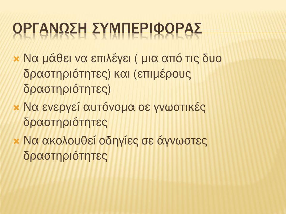 ΟΡΓΑΝΩΣΗ ΣΥΜΠΕΡΙΦΟΡΑΣ