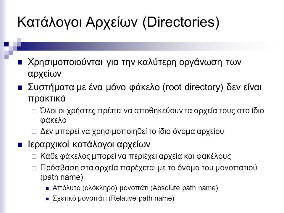 Κατάλογοι Αρχείων (Directories)