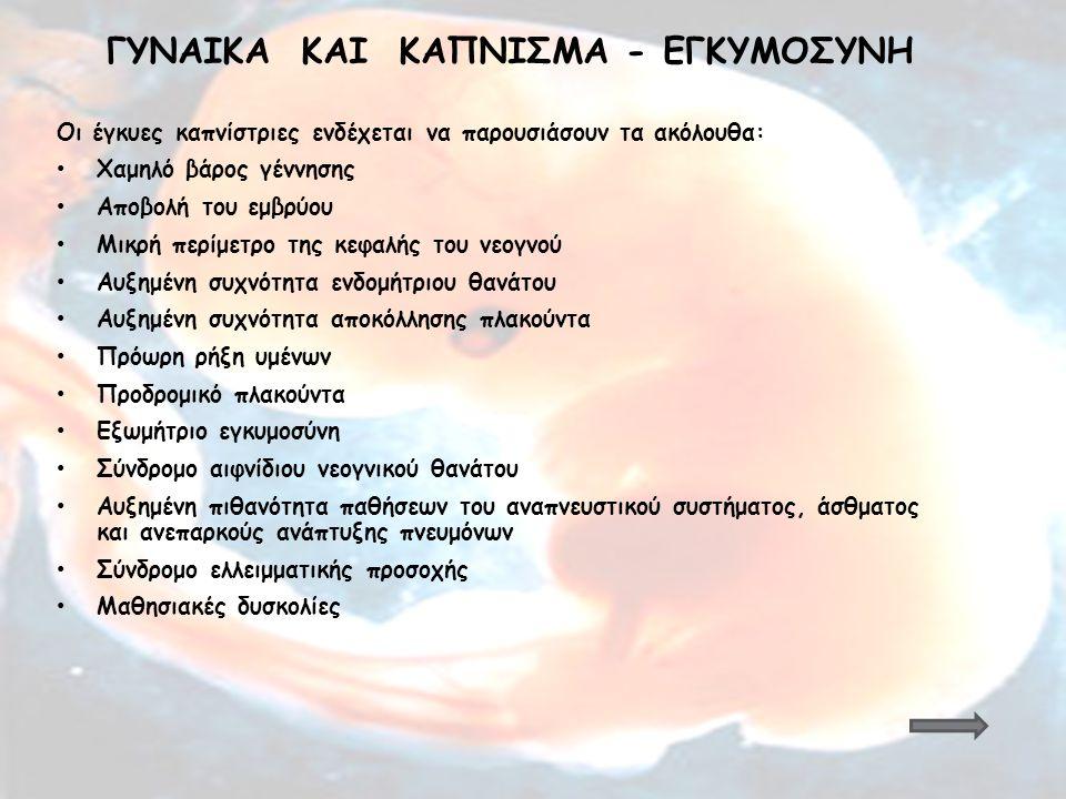 Γυναiκα και Κaπνισμα - Εγκυμοσyνη