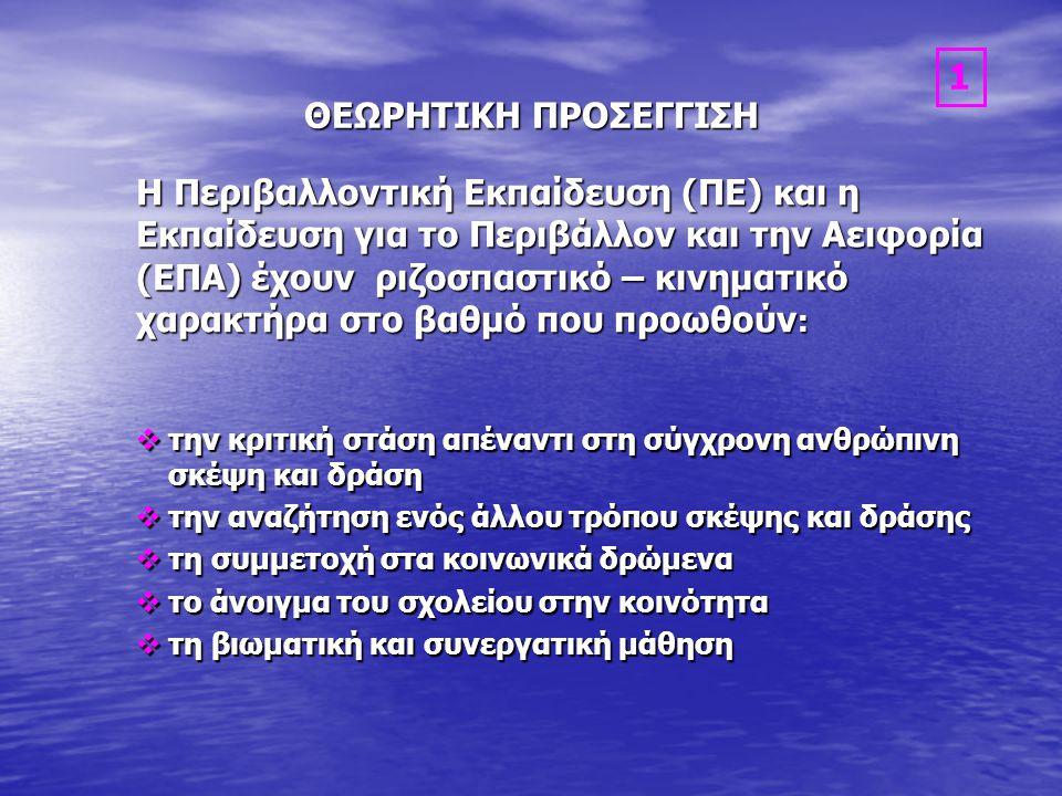 ΘΕΩΡΗΤΙΚΗ ΠΡΟΣΕΓΓΙΣΗ 1.