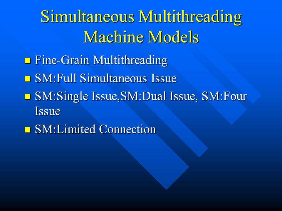 Simultaneous Multithreading Machine Models
