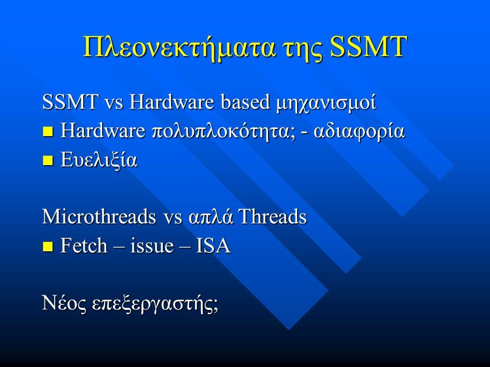 Πλεονεκτήματα της SSMT