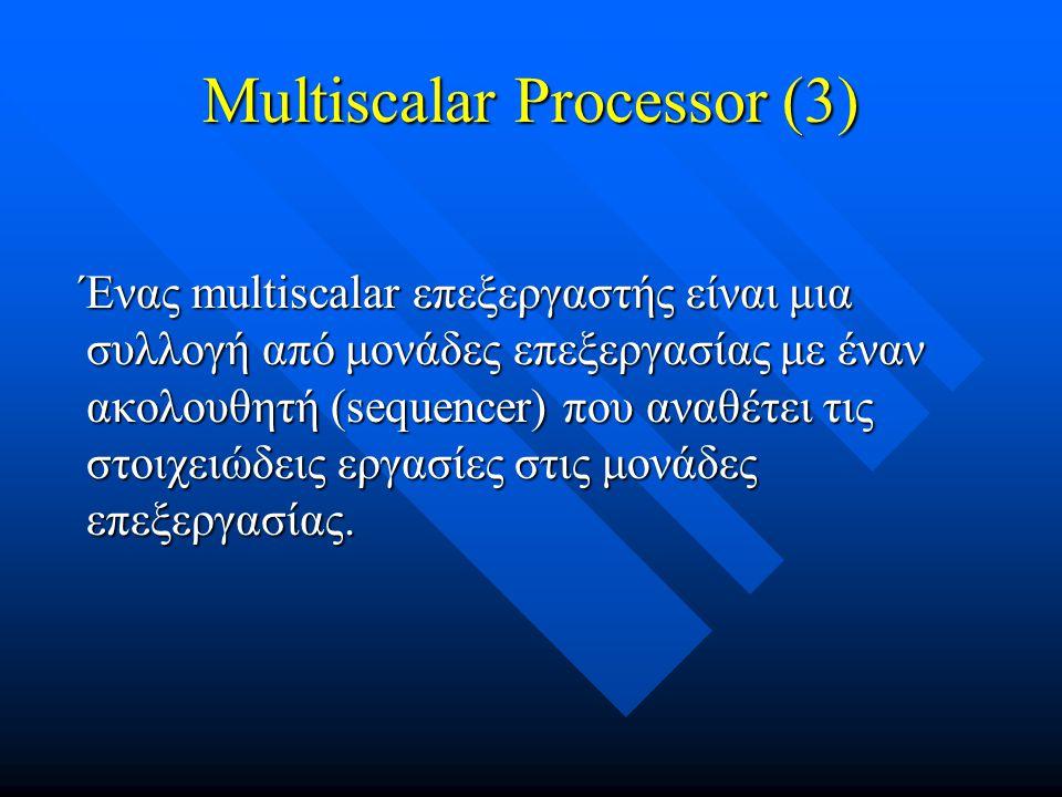 Multiscalar Processor (3)