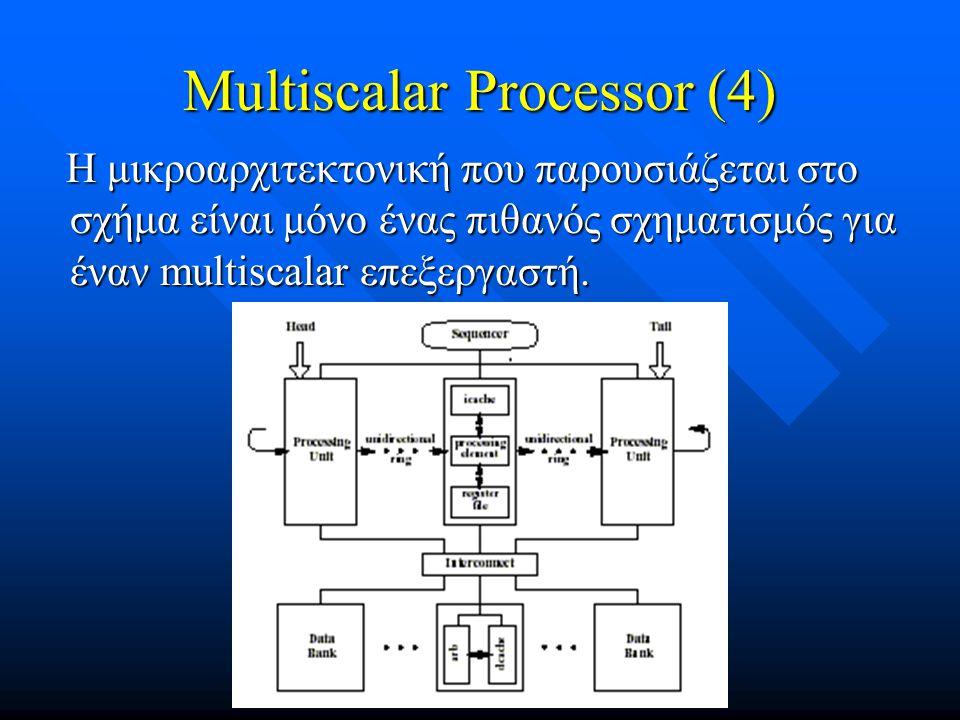 Multiscalar Processor (4)