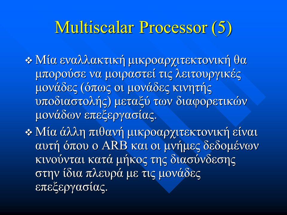 Multiscalar Processor (5)