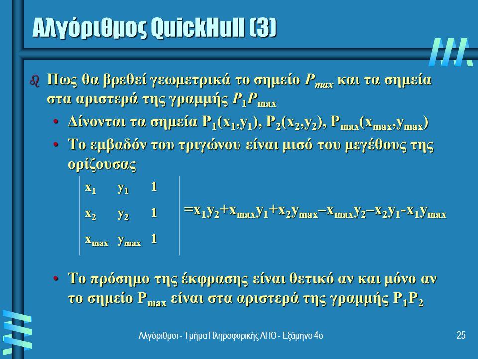 Αλγόριθμος QuickHull (3)