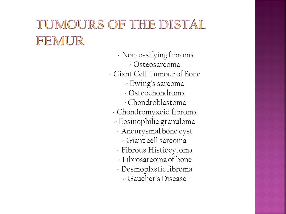 Tumours of the Distal Femur
