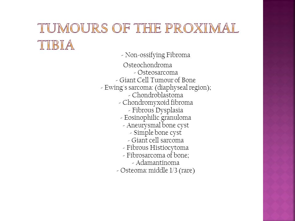 Tumours of the Proximal Tibia