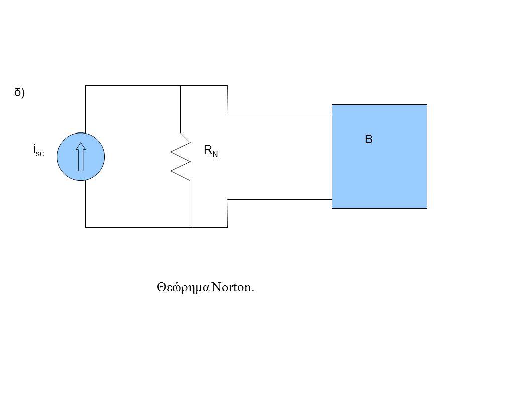 δ) B isc RN Θεώρημα Norton.