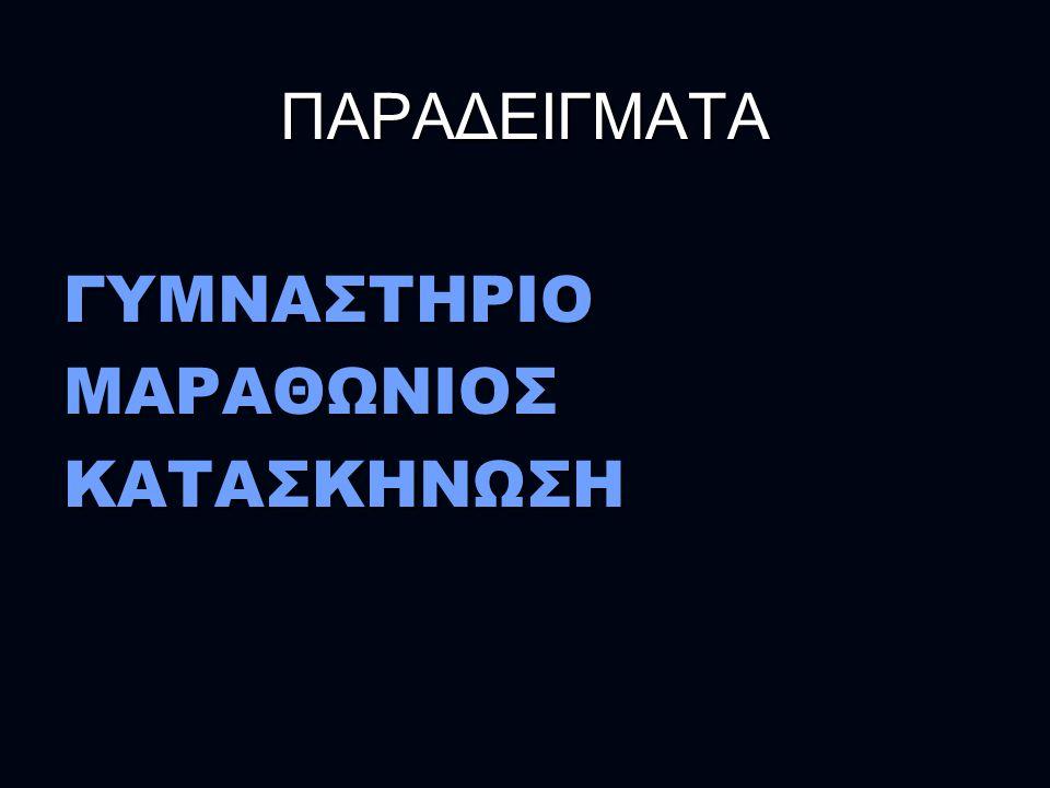 ΠΑΡΑΔΕΙΓΜΑΤΑ ΓΥΜΝΑΣΤΗΡΙΟ ΜΑΡΑΘΩΝΙΟΣ ΚΑΤΑΣΚΗΝΩΣΗ