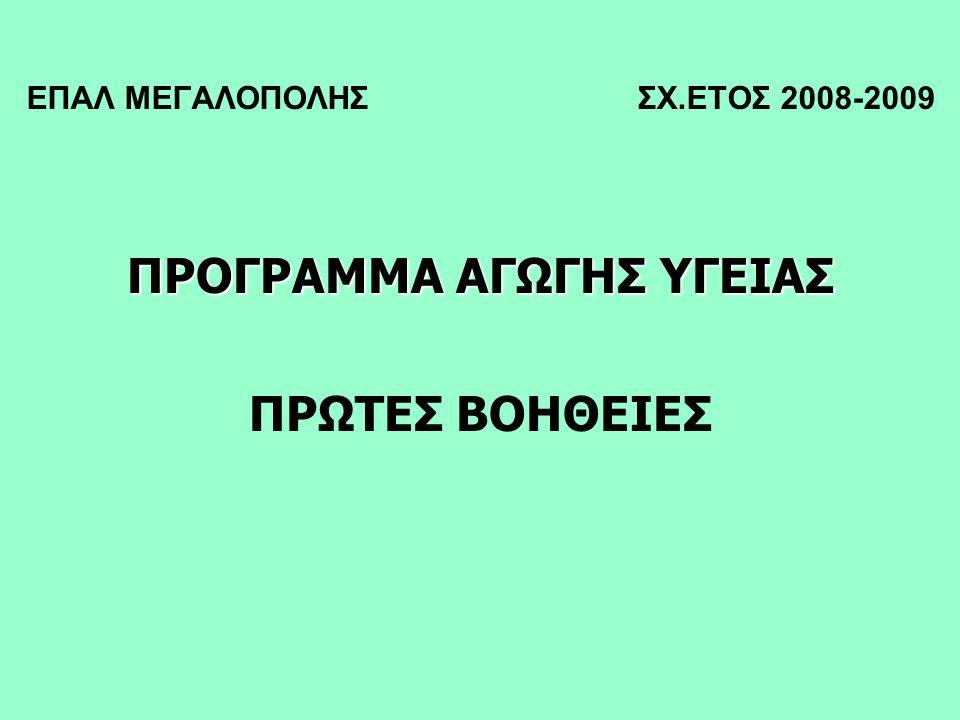 ΕΠΑΛ ΜΕΓΑΛΟΠΟΛΗΣ ΣΧ.ΕΤΟΣ 2008-2009