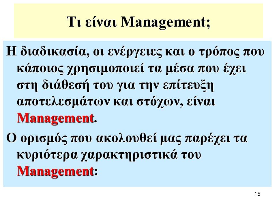 Τι είναι Management;