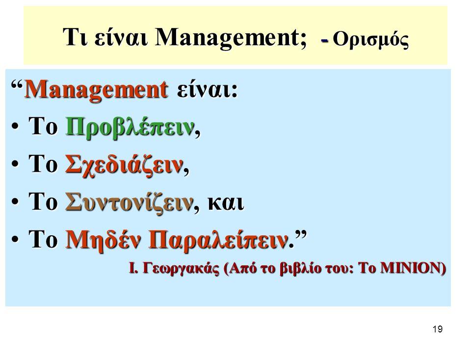 Τι είναι Management; - Ορισμός