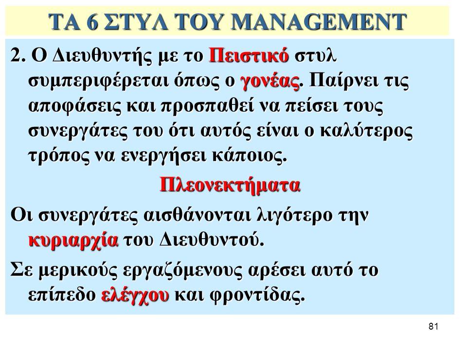 ΤΑ 6 ΣΤΥΛ ΤΟΥ MANAGEMENT