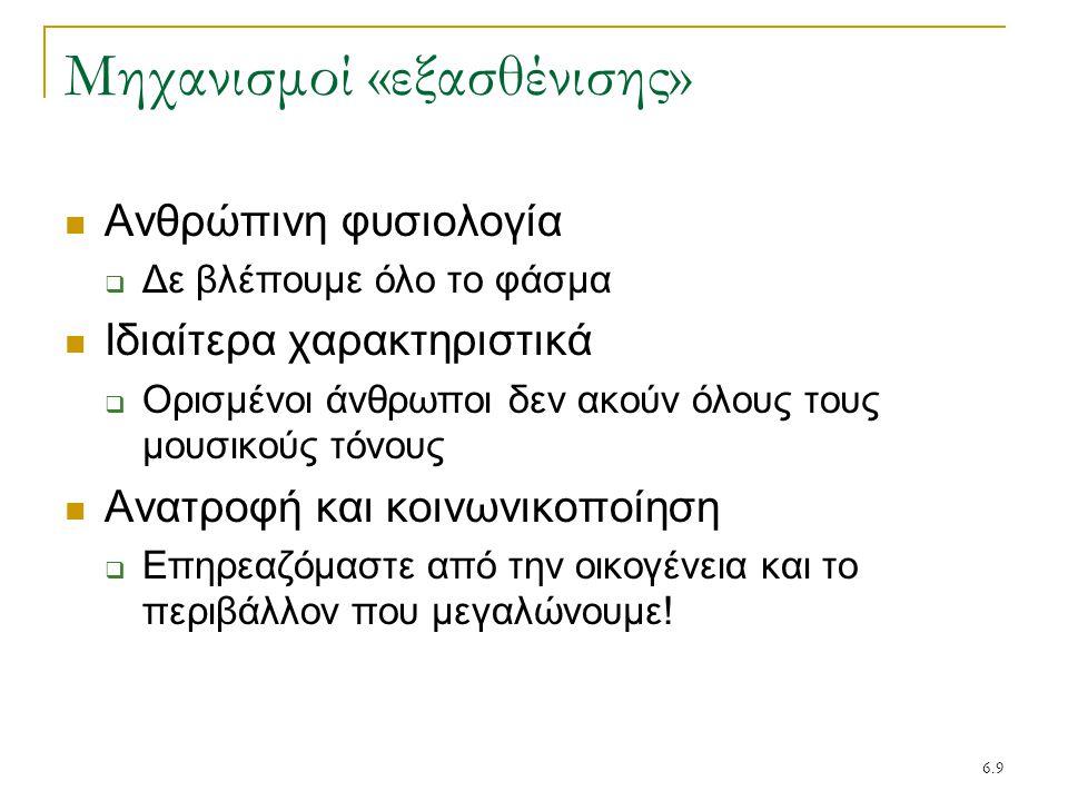 Μηχανισμοί «εξασθένισης»