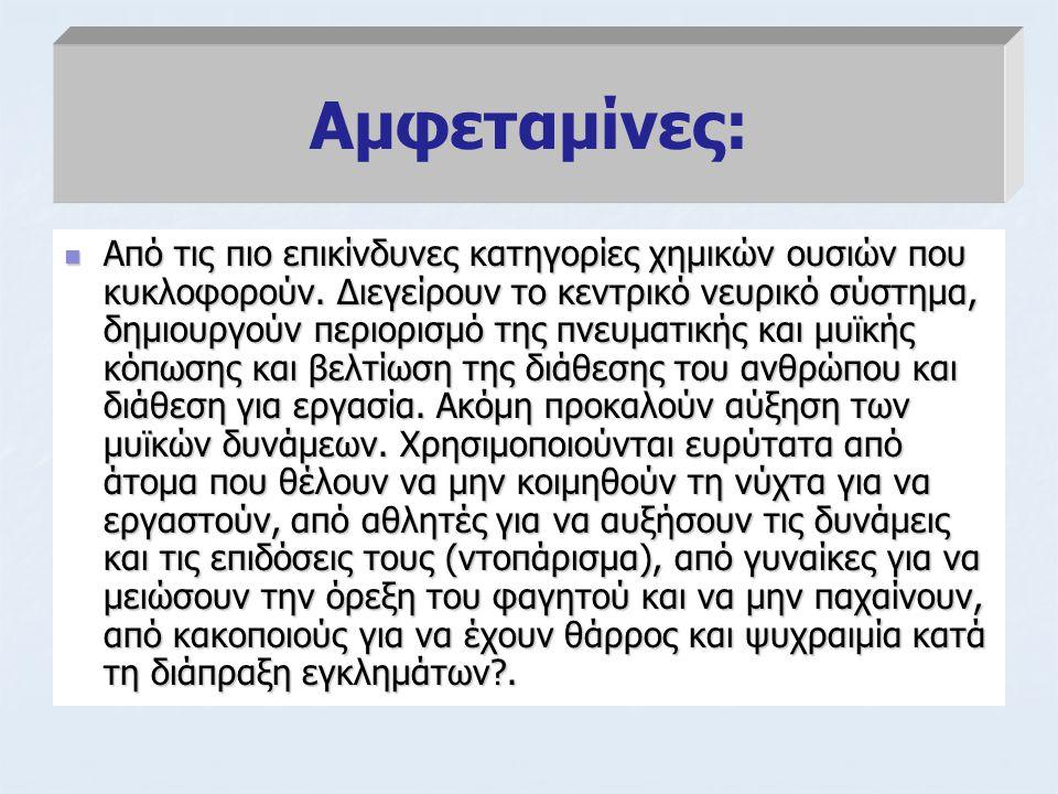 Αμφεταμίνες:
