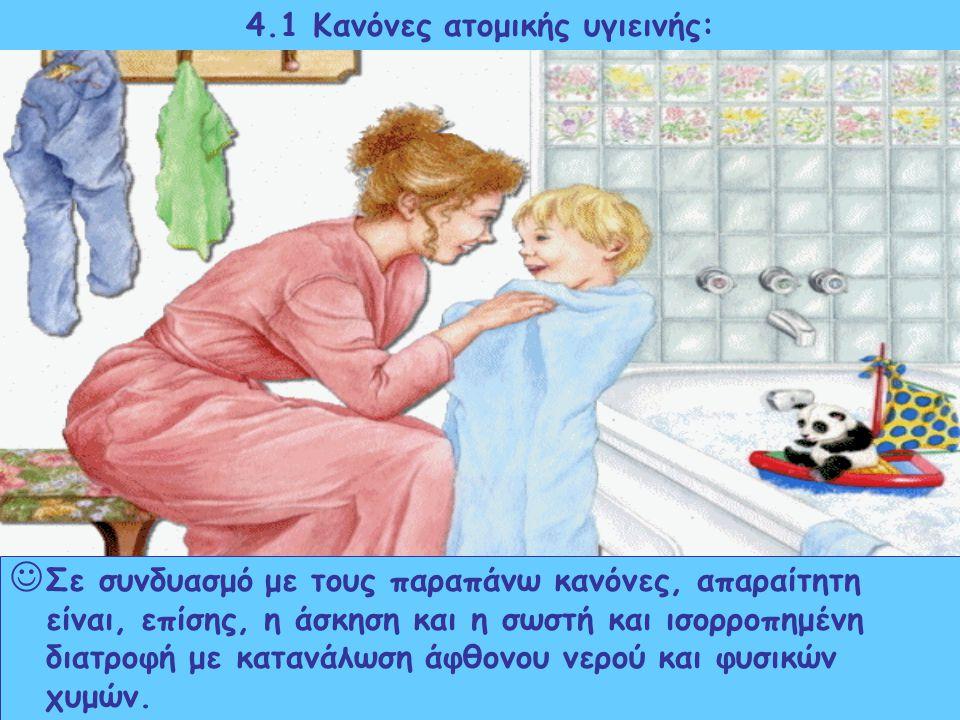 4.1 Κανόνες ατομικής υγιεινής: