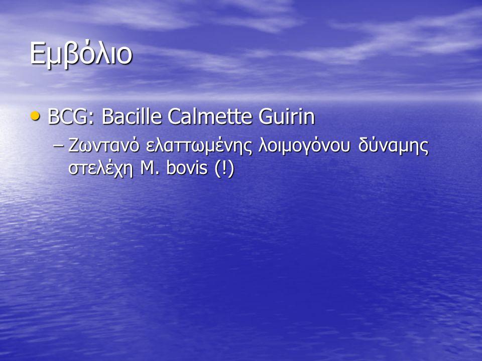 Εμβόλιο BCG: Bacille Calmette Guirin