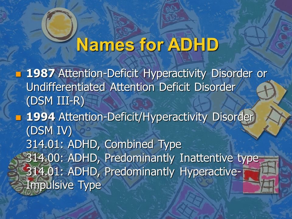Names for ADHD