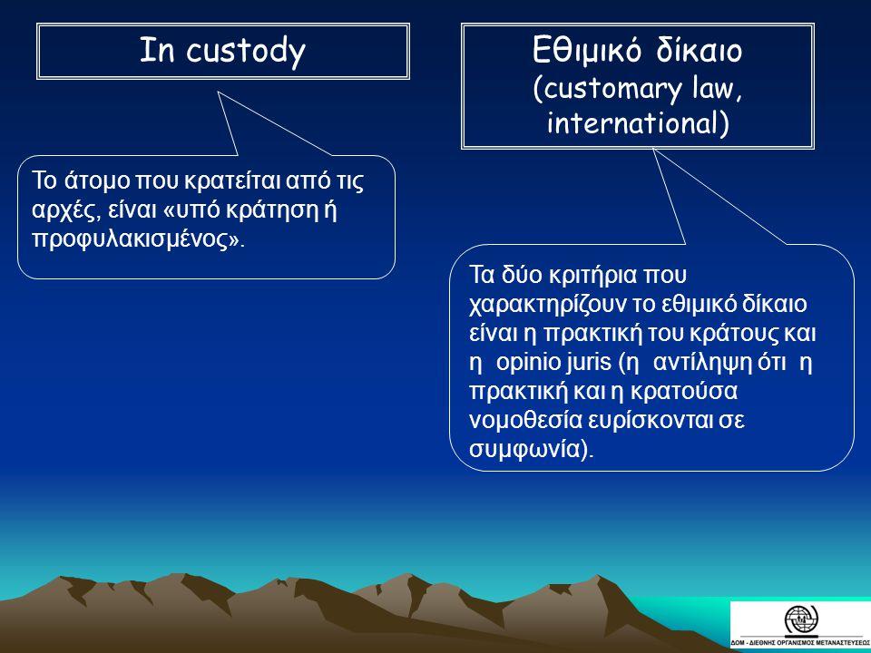 (customary law, international)