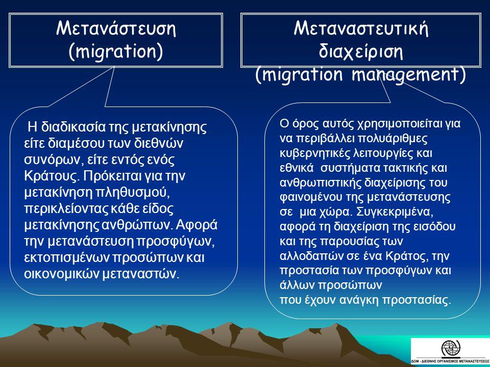 Μεταναστευτική διαχείριση (migration management)