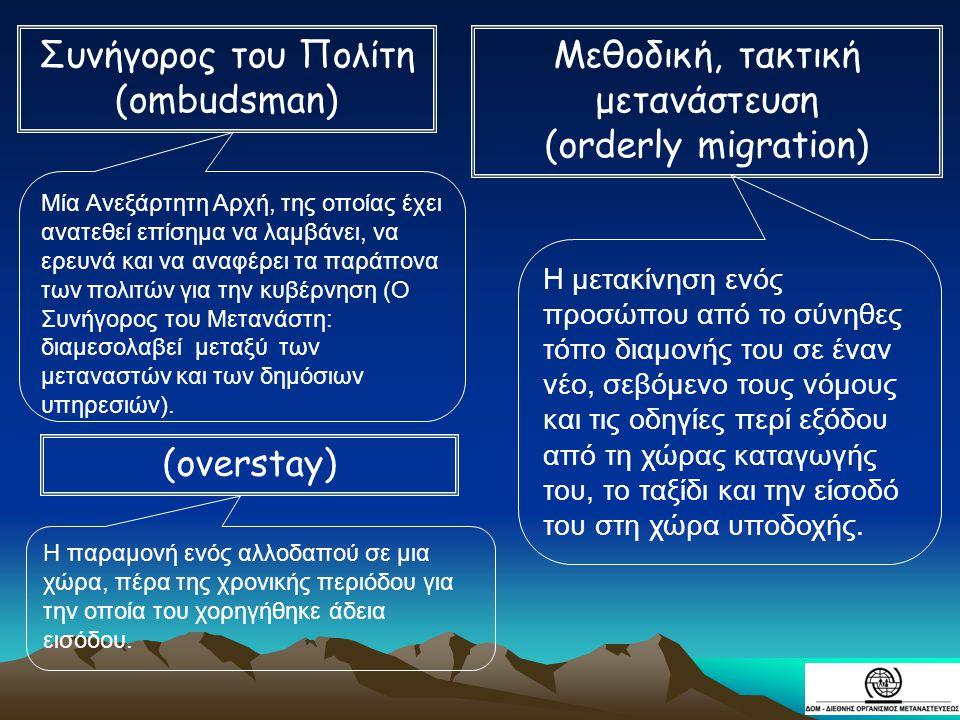 Μεθοδική, τακτική μετανάστευση