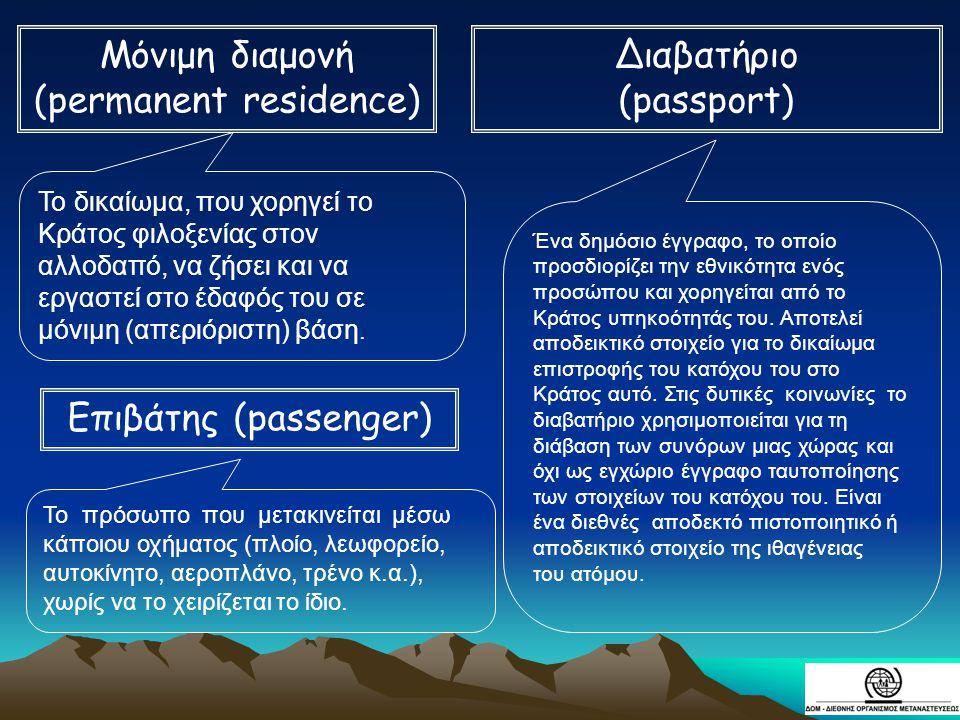 Μόνιμη διαμονή (permanent residence)