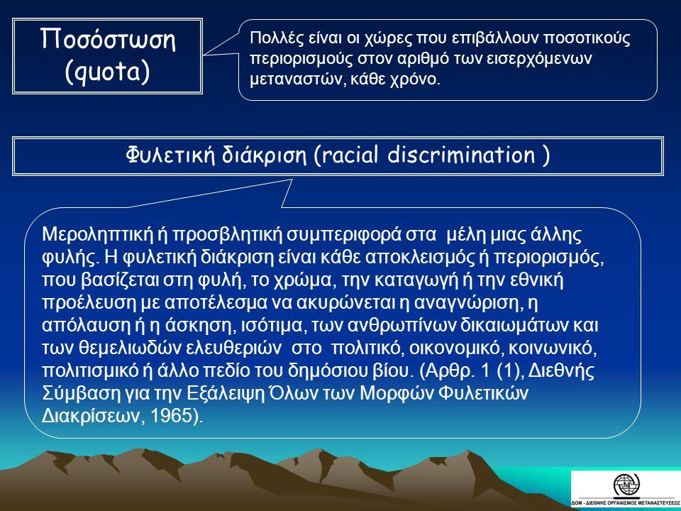Φυλετική διάκριση (racial discrimination )