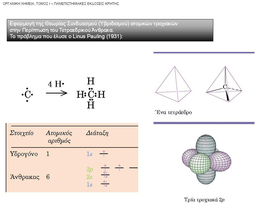 Εφαρμογή της Θεωρίας Συνδυασμού (Υβριδισμού) ατομικών τροχιακών