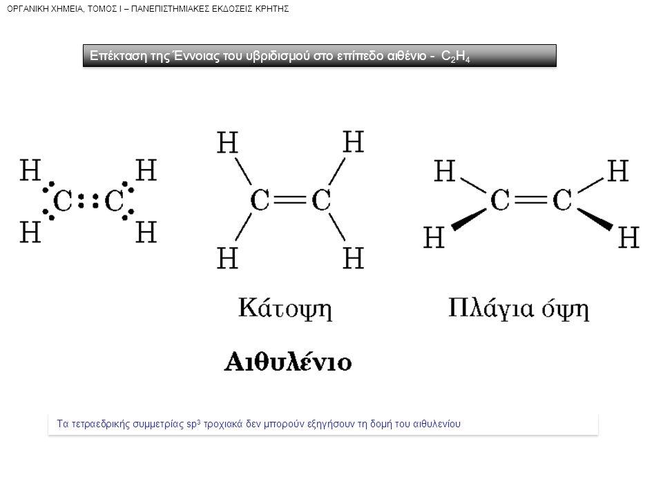 Επέκταση της Έννοιας του υβριδισμού στο επίπεδο αιθένιο - C2H4