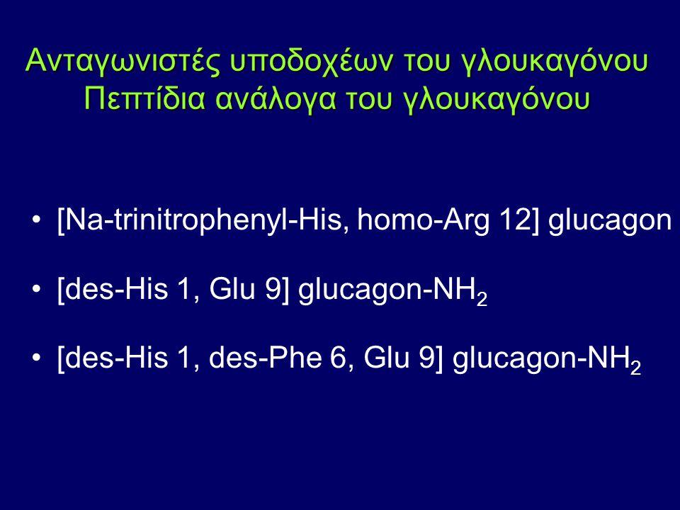 Ανταγωνιστές υποδοχέων του γλουκαγόνου Πεπτίδια ανάλογα του γλουκαγόνου