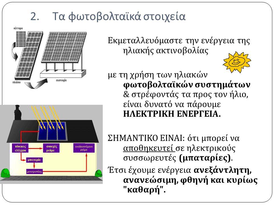 Τα φωτοβολταϊκά στοιχεία