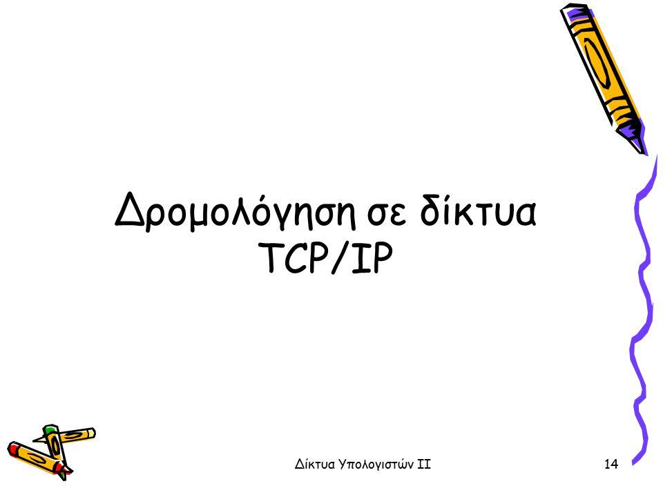 Δρομολόγηση σε δίκτυα TCP/IP