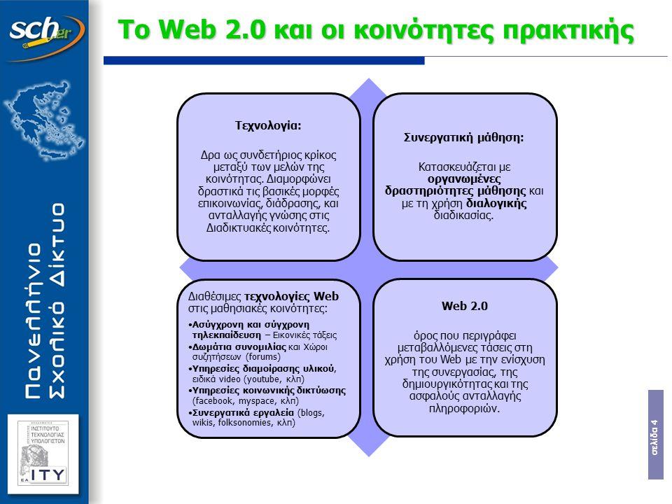Το Web 2.0 και οι κοινότητες πρακτικής