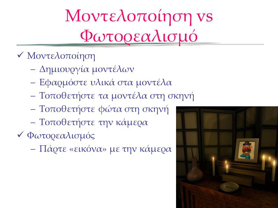 Μοντελοποίηση vs Φωτορεαλισμό