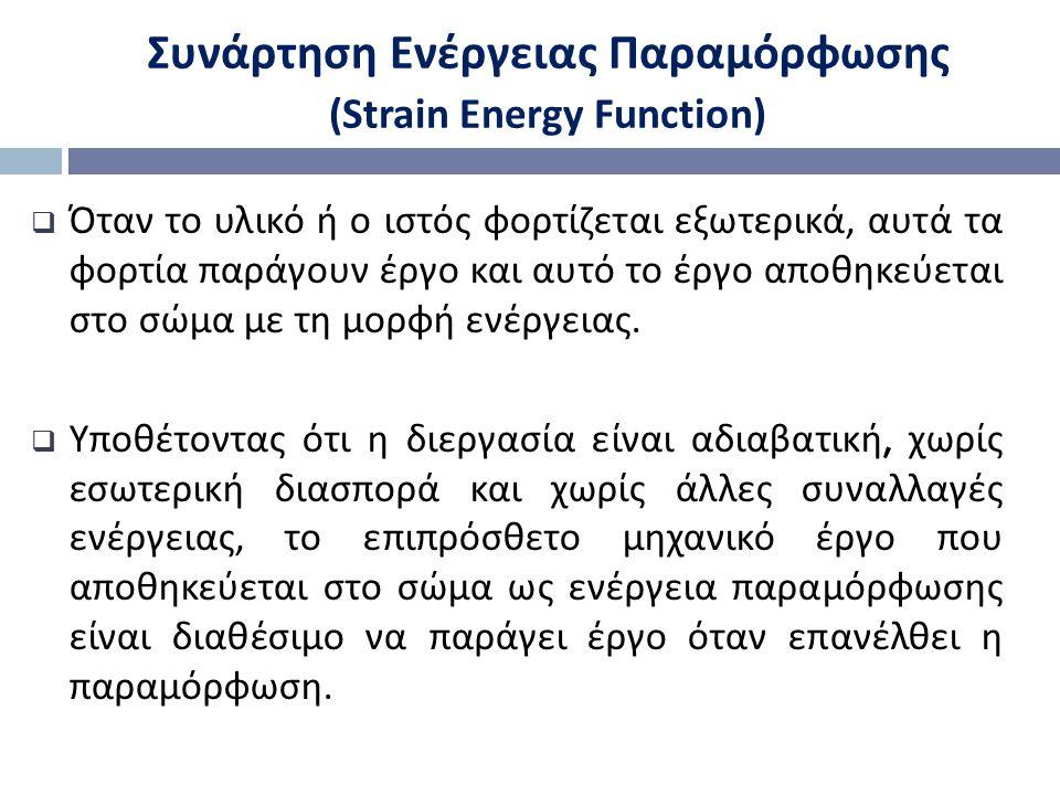 Συνάρτηση Ενέργειας Παραμόρφωσης (Strain Energy Function)