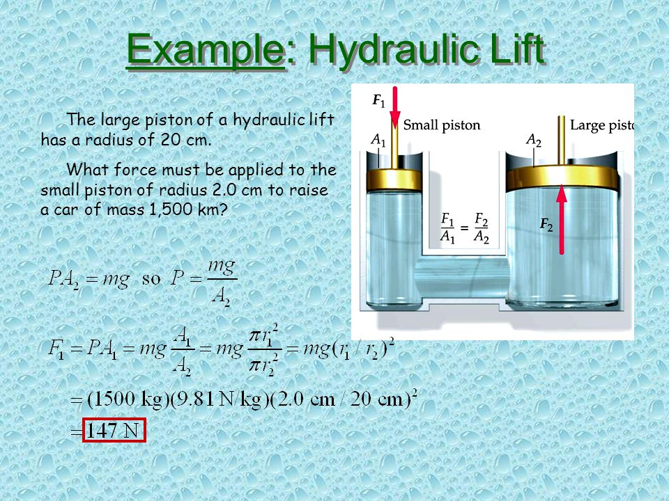 Example: Hydraulic Lift