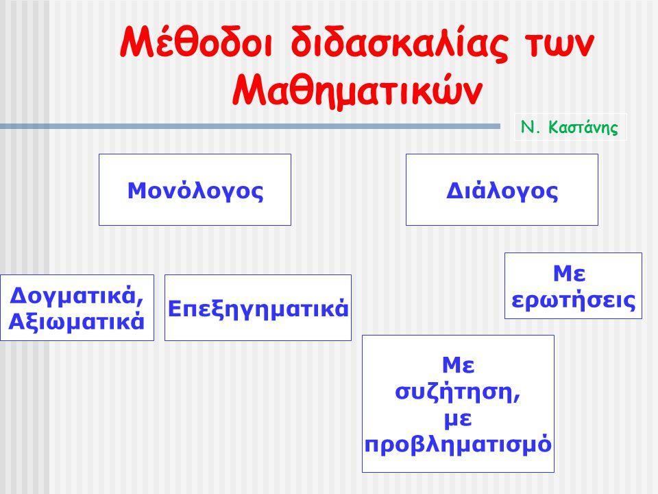 Μέθοδοι διδασκαλίας των Μαθηματικών